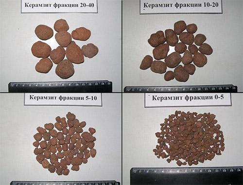 фракции керамзита