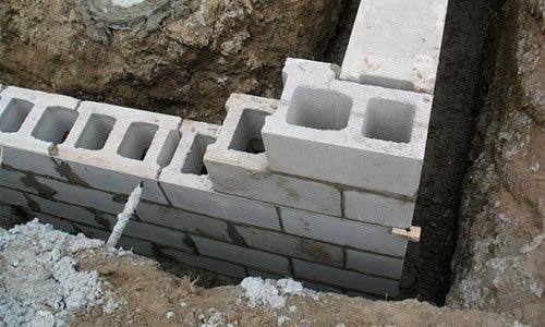 Фундамент из шлакоблока
