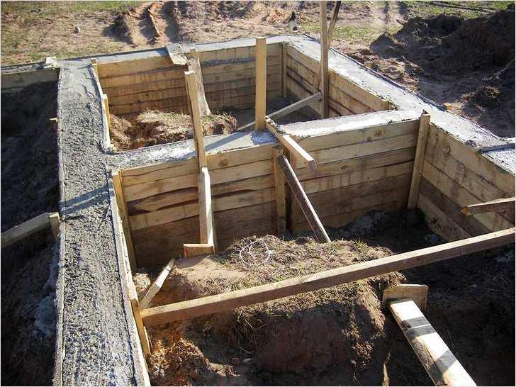 Заливка фундамента под баню