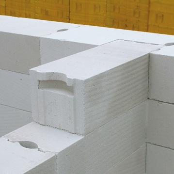 Пример кладки стены из газобетона