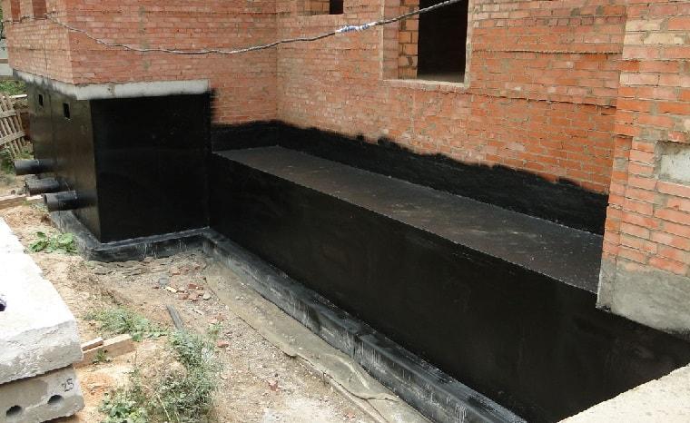 гидроизоляция фундамента, фото