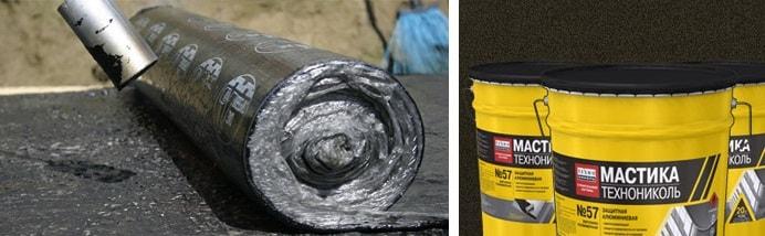 гидроизоляция фундамента, мастика, рубероид