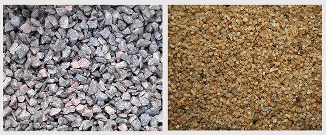Гравий и песок