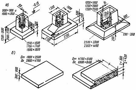 Блоки с квадратными и прямоугольными плитами