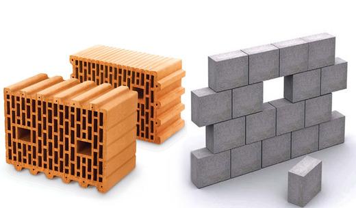 Отличие блоковых материалов