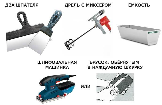 Инструменты для шпаклевочных работ