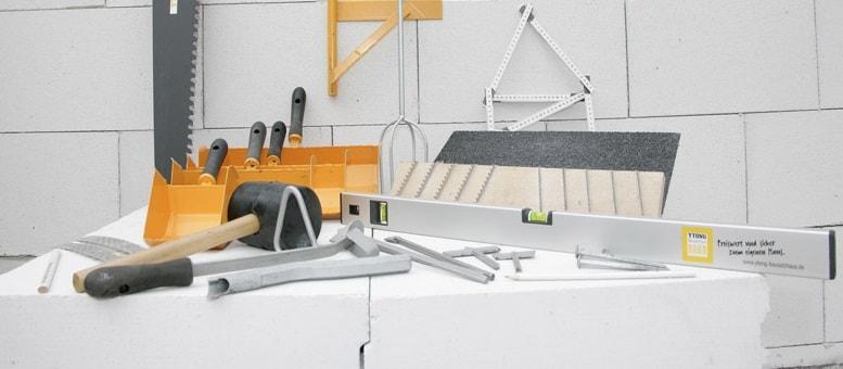 Инструменты для работы с газобетоном