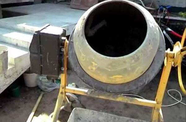 Использование бетономешалки
