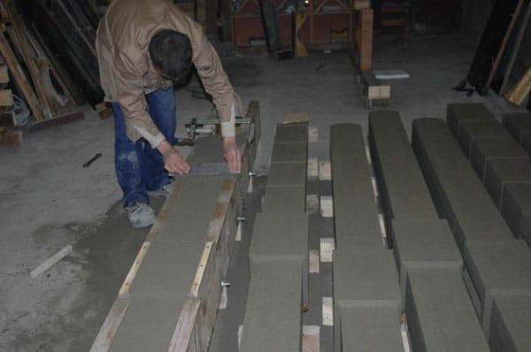 Просушка бетонных столбов