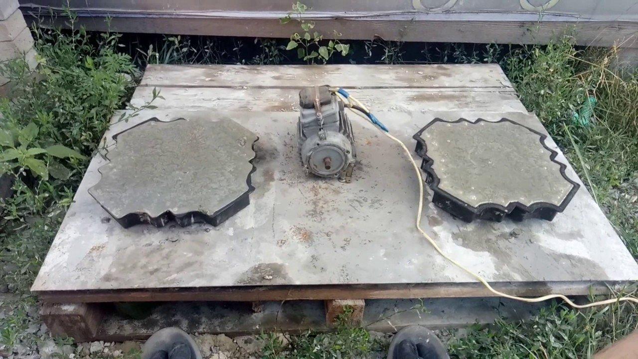 Изготовление плитки для тротуара