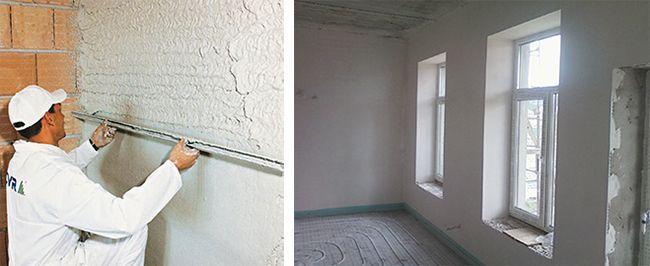 Штукатурим стены известковым раствором