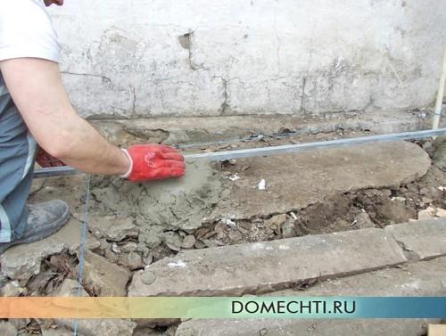 Как залить бетонную дорожку своими руками