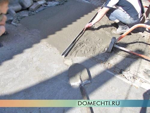 Как правильно залить бетоном двор