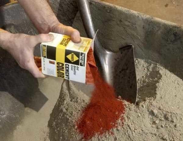 Краситель для бетонного раствора