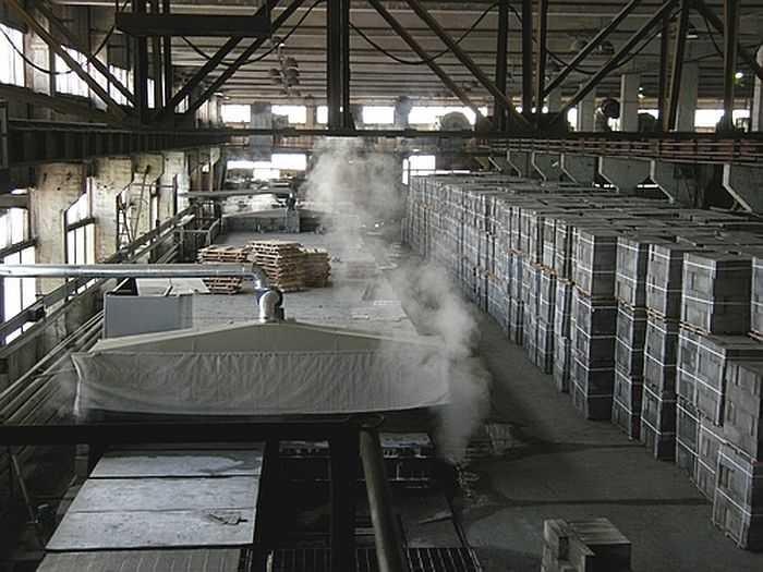 Завод по изготовлению автоклавного газобетона