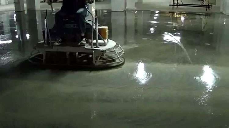 Мокрая шлифовка бетонного пола