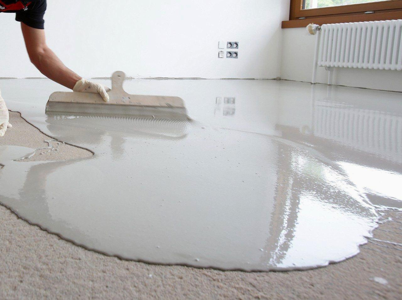 Наливной пол по бетону