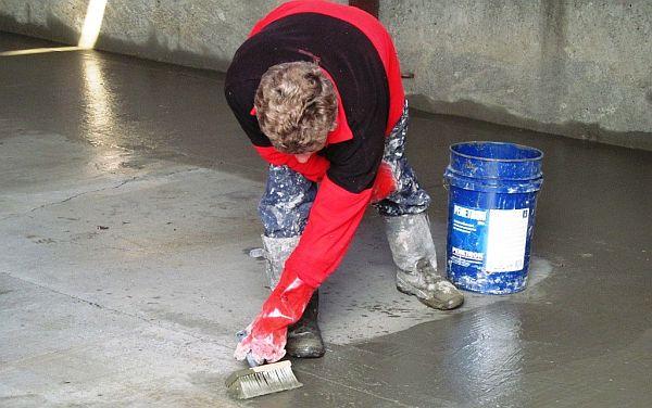"""Гидроизоляция бетонного пола или горизонтальная гидроизоляция фундамента - это тоже  область применения """"Пенетрона"""""""