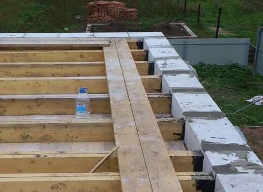 Деревянное перекрытие в домах из газобетона