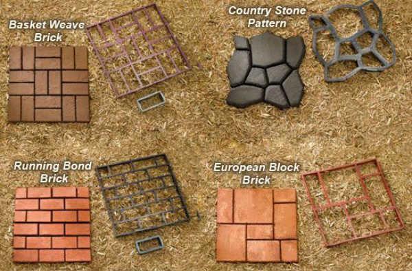 Виды форм для бетонных дорожек
