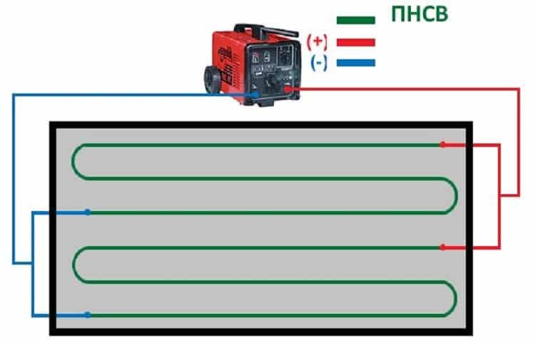 Подключение ПНСВ к сварочному аппарату