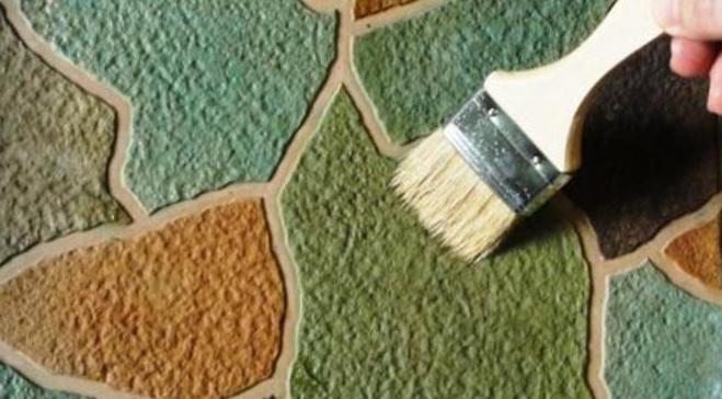 Покраска готовой дорожки
