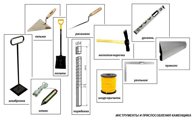 Основные инструменты каменщика
