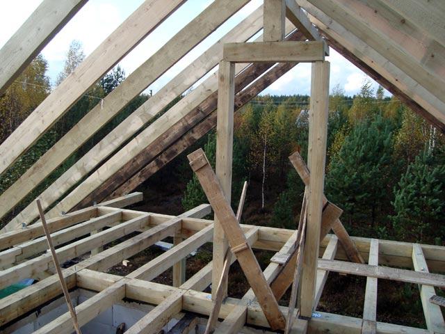 Фото устройства стропильной системы крыши сарая из пеноблоков, dom.dacha-dom.ru