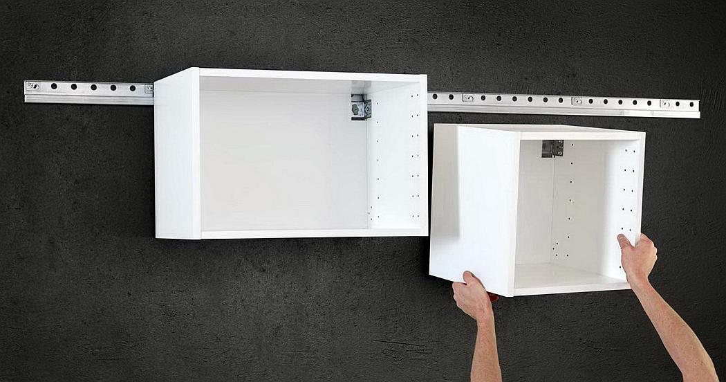 Повесить кухонный шкаф на стену из газобетона