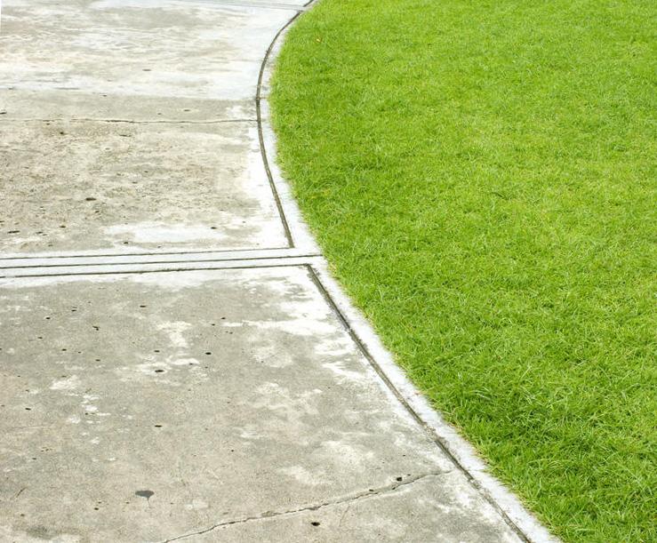 поврежденная бетонная дорожка