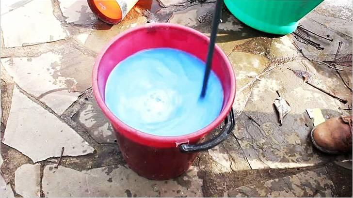 Приготовление красителя из бетона из известковой краски