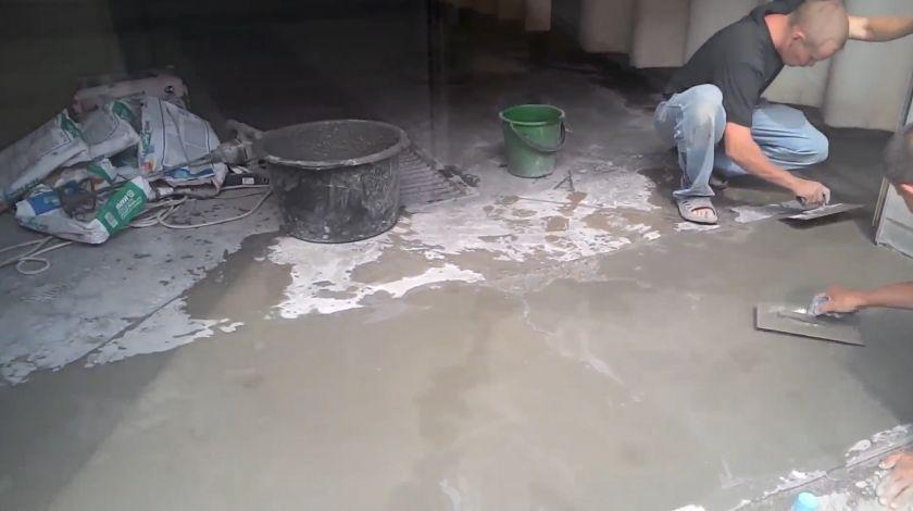 ремонт бетонного пола фото