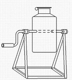 Схема бетономешалки из фляги