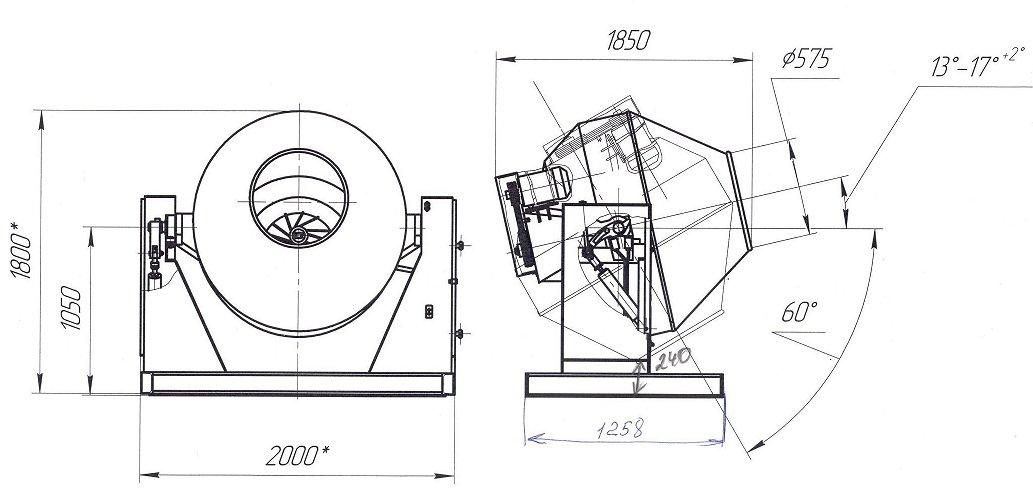 Схема бетономешалки из стиральной машины