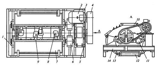 Схема циклической бетономешалки