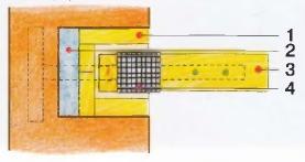 Схема опирания деревянной балки на кирпичную стену