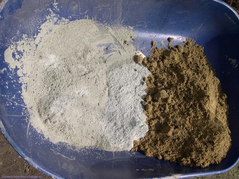 Смесь песка и цемента