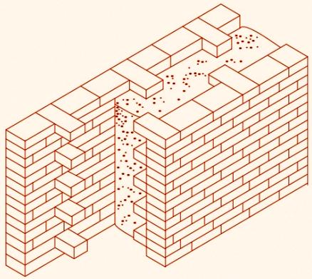 Стена дома в несъемной опалубке