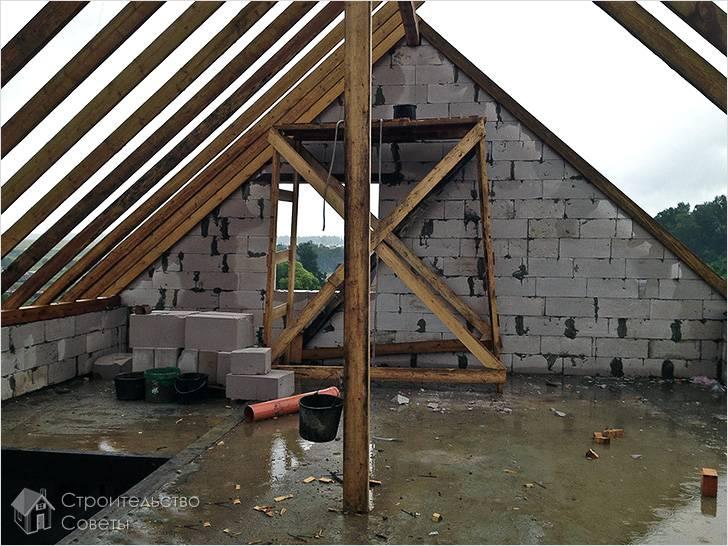 Строительство мансардного этажа