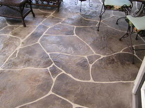 Декоративный бетон садовые дорожки