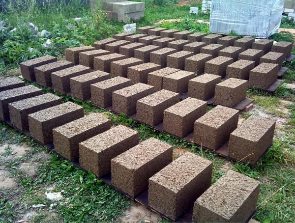 Технология приготовления блоков из опилкобетона