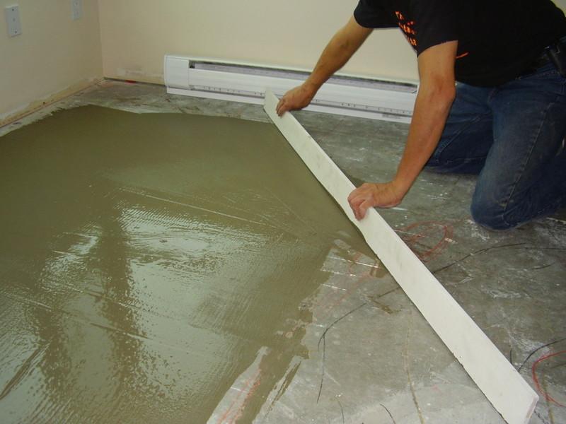 Уход за бетонным полом