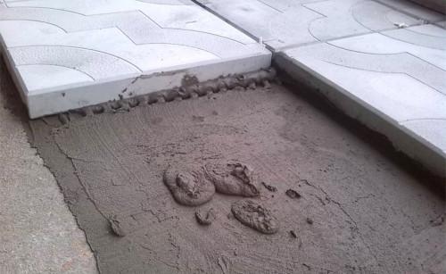 Брусчатка на бетон при помощи клея
