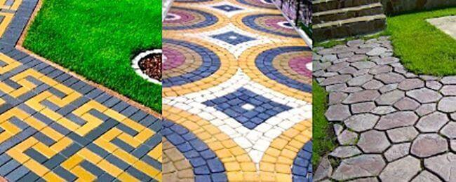 Тротуарная плитка, изготовленная своими руками, придаст вашему участку неповторимый облик
