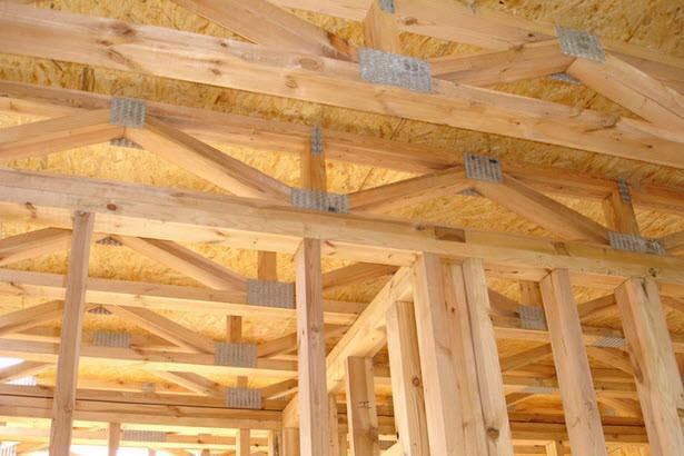 Деревянные межэтажные перекрытия, делаются только по несущим балкам дома и в комнатах, где длина пролетов не превышает пяти метров.