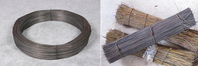 Для обвязки применяют стальную обожженную проволоку