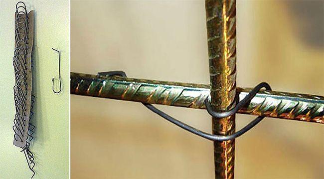 Металлические скобы для вязки арматуры