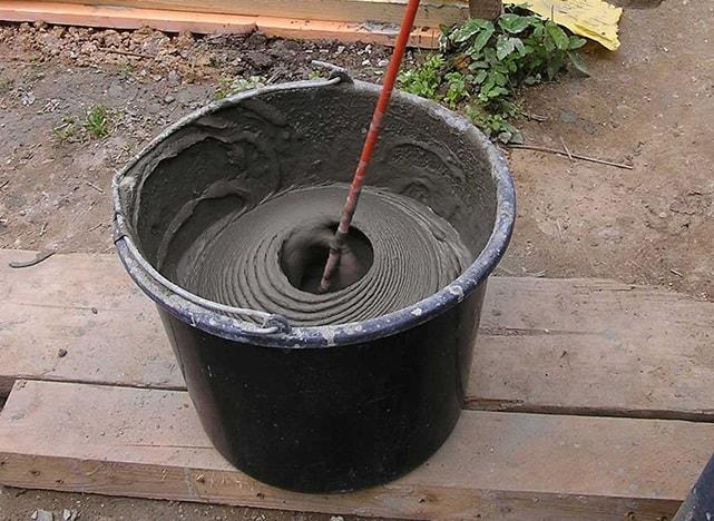 замес клея для газобетона