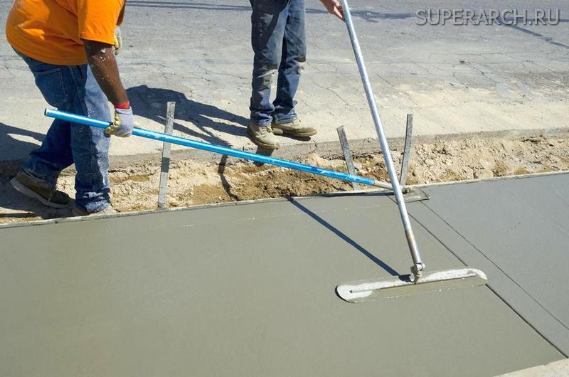 Железнение бетона цементом