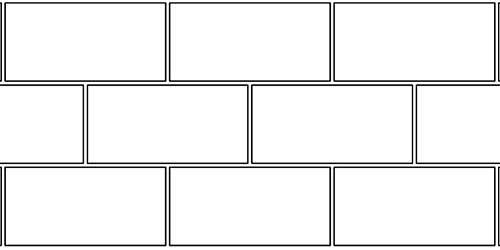 Схема перевязки между рядами кладки толщиной в пол блока